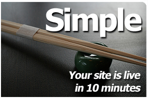 Simple - Your site is live in 10 minutes